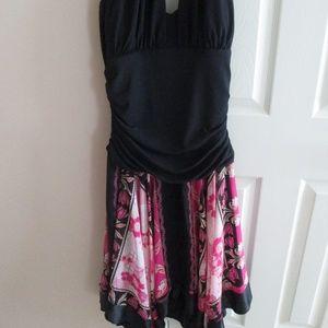 Halter Style Dress Pink Handkerchief bottom Sz.12